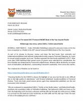 Forward Award Press Release